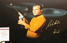 "Star Trek: William Shatner Signed 16"" x 20"" Color Photo w/""Kirk"" Inscription (JSA)"