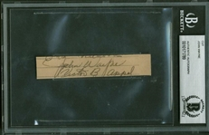 "John Wayne Vintage Signed 1"" x 3"" Notebook Page Cut (Beckett/BAS Encapsulated)"