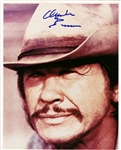 "Charles Bronson In-Person Signed 8"" x 10"" Photograph (Beckett/BAS)"