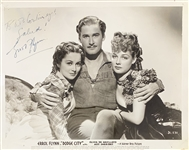 "Errol Flynn Signed 10"" x 8"" Warner Bros Publicity Photo for ""Dodge City"" (JSA)"