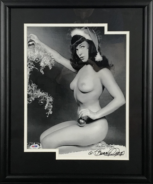 Bettie Page & Bunny Yeager Dual Signed 11 x 14 Framed Photograph (PSA/DNA)
