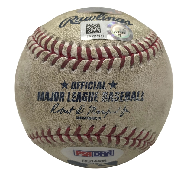 Aaron Judge Signed & Game Used 2017 OML Baseball During 4th Career Home Run Game! (PSA/DNA & MLB)