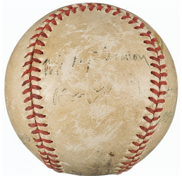 Jackie Robinson ULTRA-RARE Signed Game Used Negro League Baseball (Beckett/BAS)