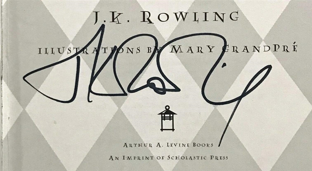 J.K. Rowling Signed First Edition Hardcover Harry Potter and the Sorcerer's Stone Book (JSA)