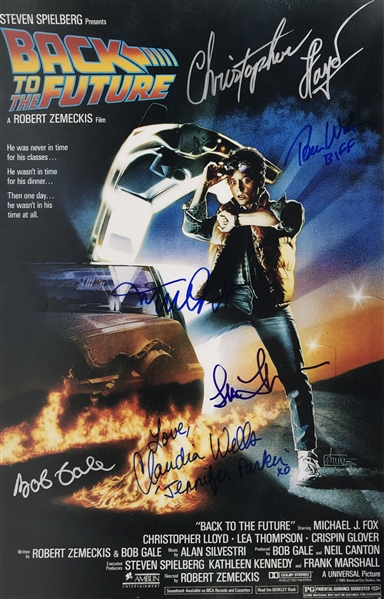 Back To The Future Multi-Signed 12 x 18 Mock Poster w/ Fox, Gale & Others! (Beckett/BAS)