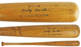 Incredible 1953 Mickey Mantle Game Used H&B Personal Model Bat - PSA/DNA Graded GU 8.5!