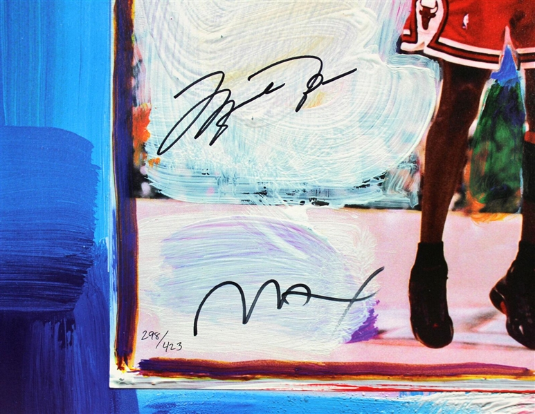 Michael Jordan Signed Limited Edition 26 x 33 Peter Max Lithograph (Upper Deck & JSA)