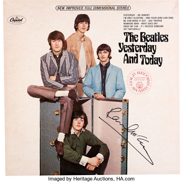 The Beatles: Paul McCartney Signed Yesterday and Today Album Cover (REAL/Epperson)