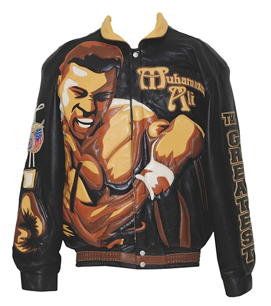 Muhammad Ali Signed One-of-a-Kind Leather Jacket from Ali's Fight Night 2000 (JSA & Hamilton LOA)