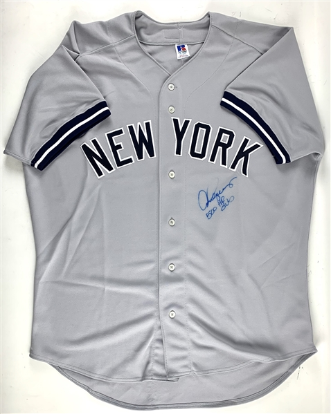 Alex Rodriguez Signed New York Yankees Jersey w/500 HR Club Inscription (Player Holo & Beckett/BAS Guaranteed)