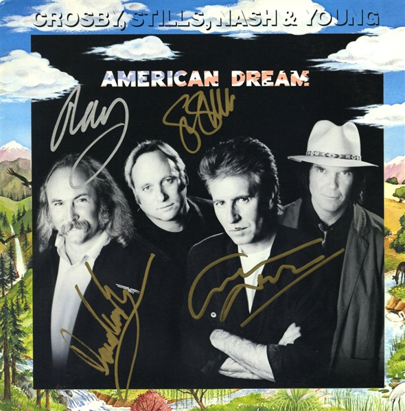 Crosby, Stills, Nash & Young Complete Group Signed American Dream Record Album (REAL/Epperson)