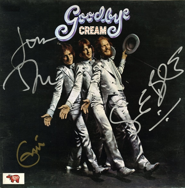 Cream Group Signed Goodbye Record Album w/ Clapton, Bruce & Baker! (REAL/Epperson)