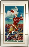 Jerry Rice Signed Limited-Edition LeRoy Neiman Serigraph in Custom Framed Display (Beckett/BAS)