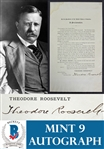 Incredible Theodore Roosevelt Signed One-of-a-Kind Historic Proclamation Document Announcing McKinleys Assassination - Roosevelts 1st Act As President! (Beckett/BAS Graded MINT 9)