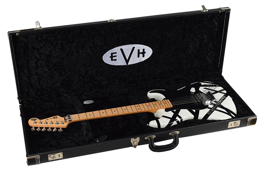 Eddie Van Halen Amazing 2008 Stage Used & Signed Charvel EVH Guitar with Photo Proof (Van Halen LOA & Beckett/BAS)