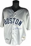 Ted Williams Signed Boston Red Sox Mitchell & Ness Vintage Model Jersey (Beckett/BAS)