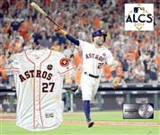 2017 Jose Altuve Game Worn Astros Home Jersey :: Worn in Game 7 ALCS Victory of Yankees to Advance to World Series! EXACT Photo Match! (MLB Auth)
