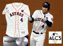 2017 George Springer Game Worn Astros Home Jersey :: Worn in Game 7 ALCS Victory of Yankees to Advance to World Series! (MLB Auth)