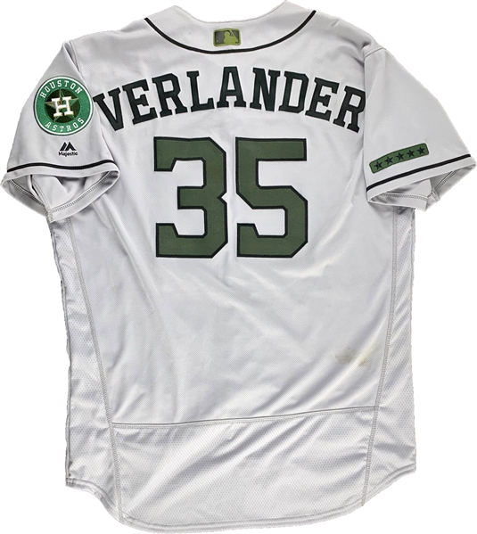 2018 Justin Verlander Game Worn Houston Astros Memorial Day Jersey (5/28/18 vs. Yankees)(MLB Authentication)