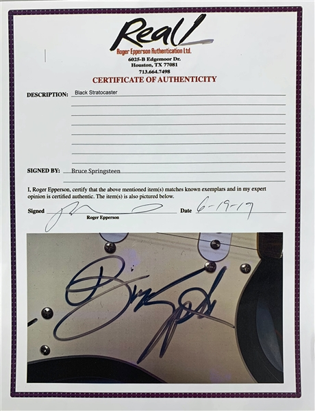 Bruce Springsteen Signed Fender Squier Stratocaster Style Guitar (REAL/Epperson)