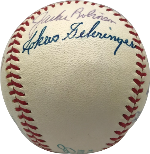 MLB Legends Multi-Signed OAL Baseball w/ Robinson, Dean & Others (Beckett/BAS)
