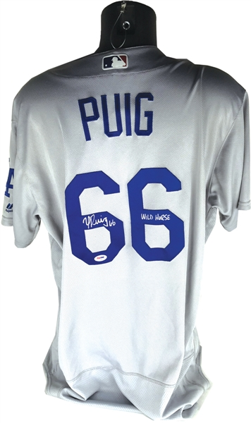 Yasiel Puig Signed & Game Worn 2017 Los Angeles Dodgers Jersey (MLB)
