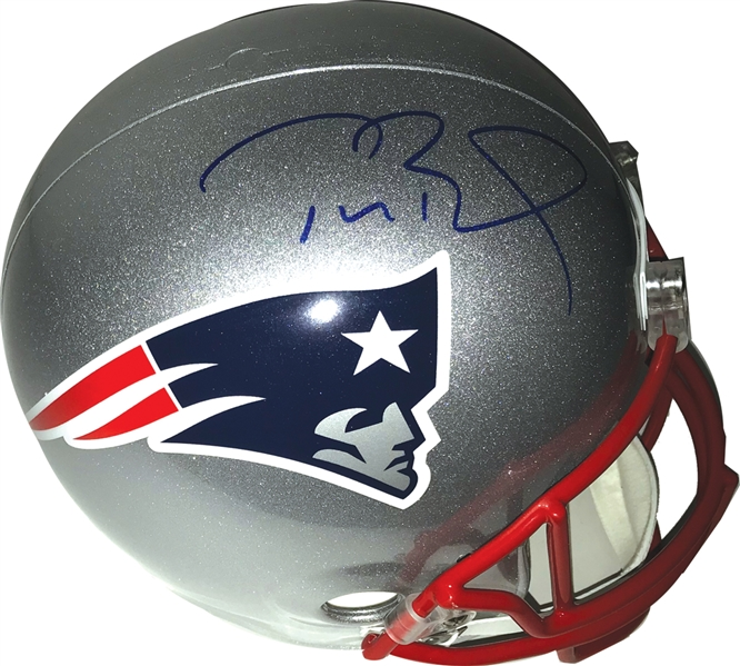Tom Brady Signed New England Pariots Full-Size Helmet (Tristar)