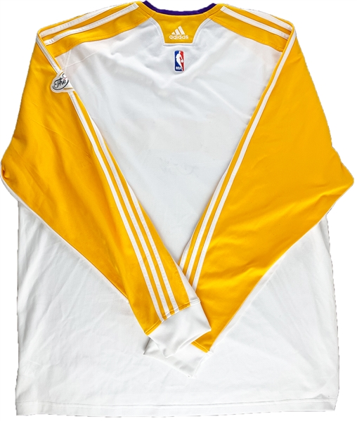 2010 Kobe Bryant NBA Finals Game Worn & Signed Warm-Up Shirt :: Style Matched 6/6/2010 Game 2 vs. Boston :: Featured on Pawn Stars! (DC Sports)