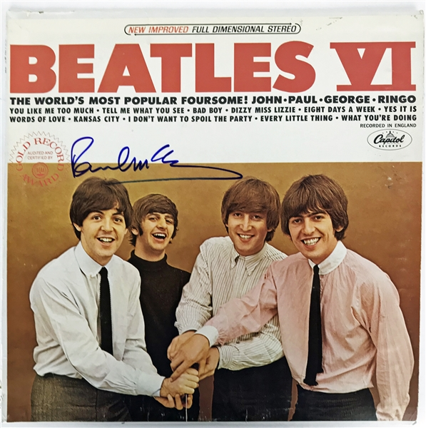 The Beatles: Paul McCartney Near-Mint Signed The Beatles VI Album (JSA & REAL/Epperson)