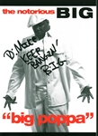 "The Notorious B.I.G Christopher Wallace Signed 5"" x 7"" Promotional ""Big Poppa"" Postcard Sticker! (Beckett/BAS GEM MINT 10 Autograph!)"