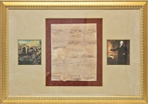 Founding Fathers: George Washington & Thomas Jefferson ULTRA-RARE Dual-Signed Ships Passport Document (BAS/Beckett)