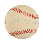"Warren ""The Whip"" Buffett Signed OAL (Brown) Baseball (BAS/Beckett)"