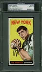 Joe Namath Ultra-Rare Signed 1965 Topps Rookie Card - PSA/DNA Graded MINT 9!