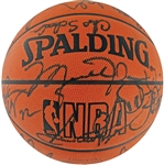 "72-10 World Champion 1995-1996 Chicago Bulls Team Signed ""Front Office"" Basketball (BAS/Beckett)"