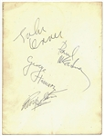 "The Beatles: Exceptional 6.5"" x 8"" Group Signed Dezo Hoffmann Photograph w/ Lennon, McCartney, Harrison & Starr! (PSA/DNA & Tracks)"