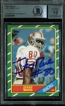 Jerry Rice Signed 1986 Topps #161 Rookie Card - Beckett/BAS Graded GEM MINT 10