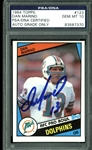 Dan Marino Signed 1984 Topps Rookie Card #123 (PSA/DNA Graded GEM MINT 10!)