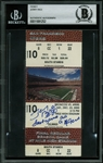 Jerry Rice Signed Ticket from Final Game w/ the 49ers (Beckett/BAS Encapsulated)