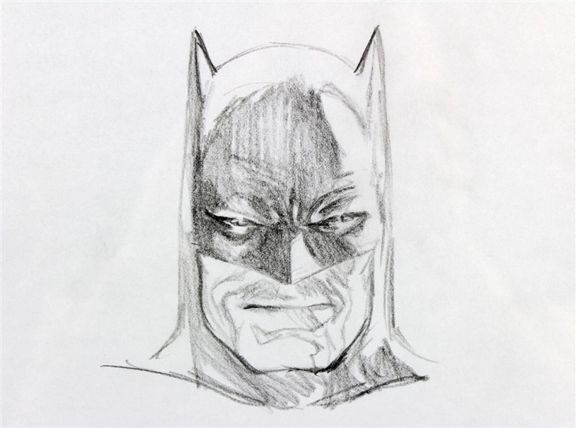 Alex Ross Rare Hand Drawn & Signed Batman Sketch (Beckett/BAS)