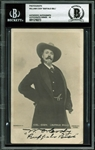 "William F. ""Buffalo Bill"" Cody Signed 3.5"" x 5.5"" Postcard Photo (BAS/Beckett Graded GEM MINT 10)"