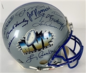 Super Bowl MVPs Signed Full Sized Proline Style Helmet with 26 Sigs Inc. Namath, Montana, etc. (Beckett/BAS LOA)