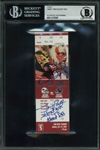 GOAT vs. GOAT: Emmitt Smith & Jerry Rice Dual-Signed 2004 Game Ticket - Cardinals vs. Seahawks (Beckett/BAS Encapsulated)