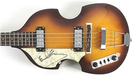 The Beatles: Paul McCartney Superbly Signed Left-Handed Hofner Bass Guitar - The Iconic Beatle Bass! (Epperson/REAL)