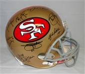 49ers Greats Signed Full Size Helmet w/Montana, Young, Rice, Lott, etc (23 Sigs)(JSA)