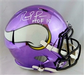 "Randy Moss Signed Minnesota Vikings Limited Edition Full Size Chrome Helmet with ""HOF 18"" Inscription (JSA)"