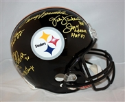 Pittsburgh Steelers Legends Signed Full Sized Helmet w/Bradshaw, Greene, Lambert, etc. (5 Sigs)(JSA)