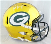 Brett Favre Signed Green Bay Packers Full Size Chrome Helmet (JSA)