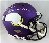"Randy Moss Signed Minnesota Vikings Full Size Authentic Speed Model Helmet w/""Straight Cash Homie"" Inscription (JSA)"