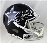 Ezekiel Elliott Signed Dallas Cowboys Full Size Flat Black Helmet (BAS)
