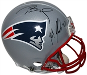 Tom Brady & Rob Gronskowski Dual Signed Riddell Full Sized PROLINE Patriots Helmet (PSA/DNA)